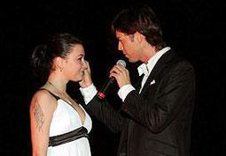 Марк Тишман и Анастасия Приходько на одном из выступлений в 2008 году
