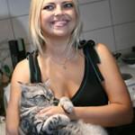 Елена Кукарская со своим питомцем