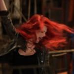 Александра Гуркова на съемках клипа