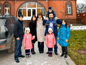 Согдиана со своей семьей