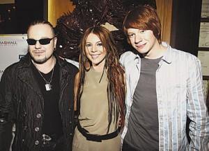 Наталья Подольская с Владимиром и Никитой Пресняковыми