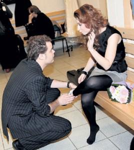 Юля Савичева со своим возлюбленным